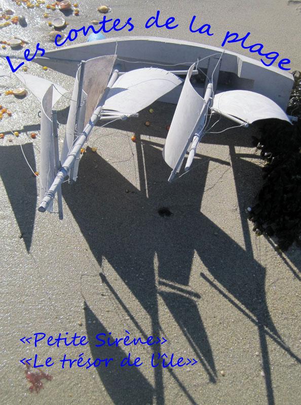 """LES CONTES DE LA PLAGE<br />Amener le théâtre sur la plage.<br />Comme dans l'Emile"""" de Rousseau, apprendre le monde en regardant le monde. Et le rêver...<br />Nous partons du principe que dans chaque paysage, dans chaque objet, se cache une histoire, et nous serions les chercheurs de ces histoires cachées sous le sable et dans la """"scénographie"""" proposée par le paysage."""